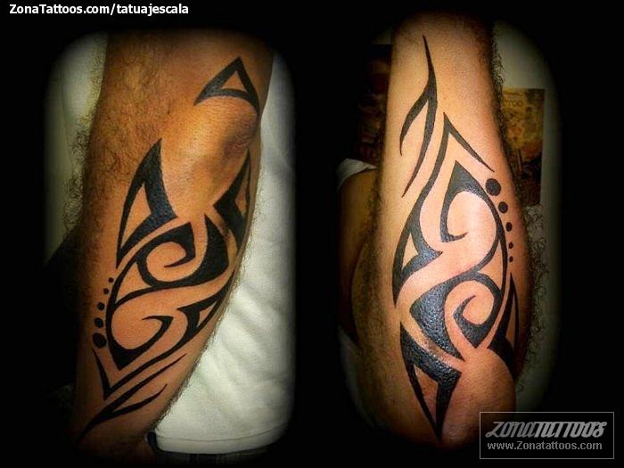 Tatuaje De Tribales Antebrazo Codo