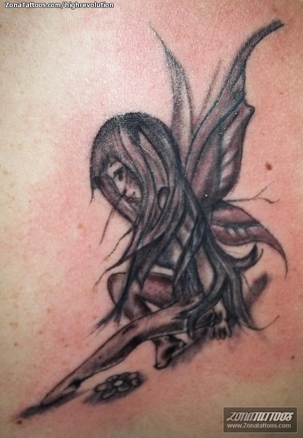 Tatuaje De Hadas Fantasia