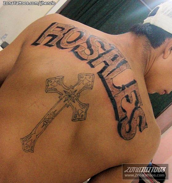 Tatuaje De Letras Espalda