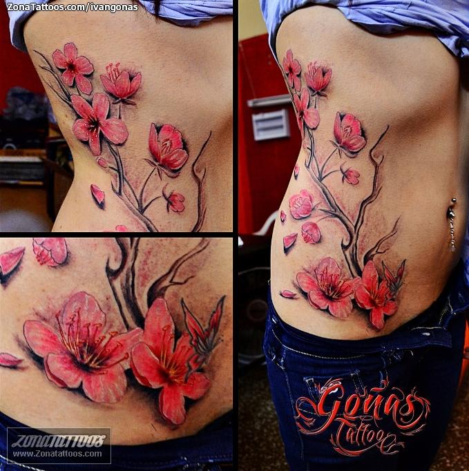 Tatuaje De Cerezos Flores