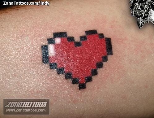 8 bit heart tattoo  Tattoos  Pixel tattoo Nintendo