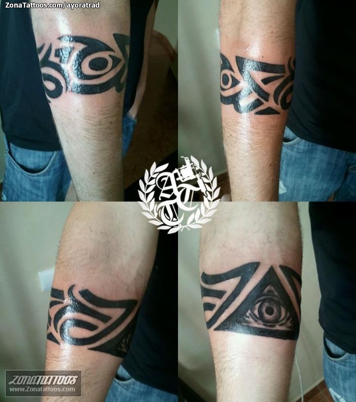 Tatuaje De Brazaletes Tribales Ojos