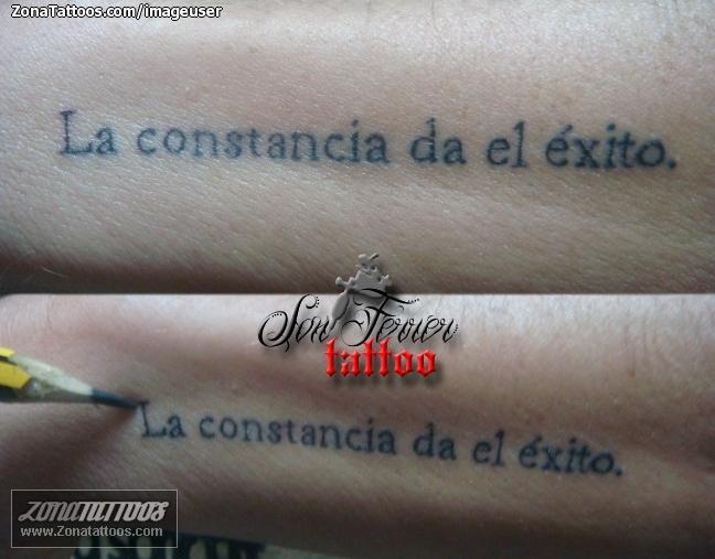 Tatuaje De Letras Frases