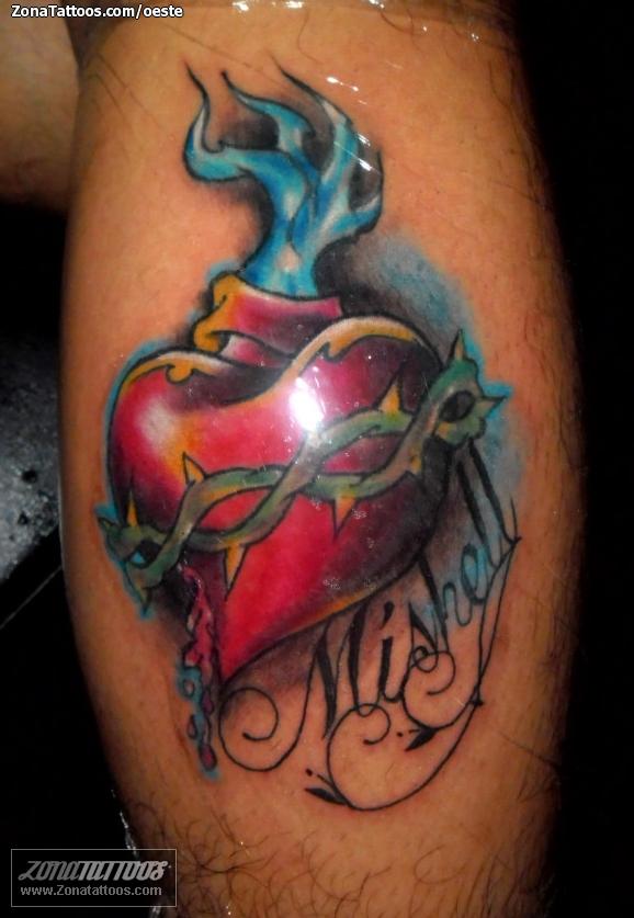 Tatuaje De Corazones Nombres Letras