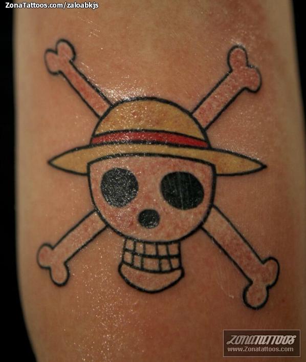 Tattoo Of Manga Skulls One Piece
