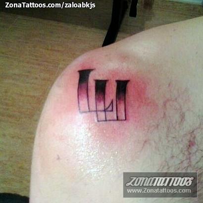 Tattoo Of Initials Shoulder
