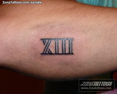 Tattoo Numero Romano 13 Sfb