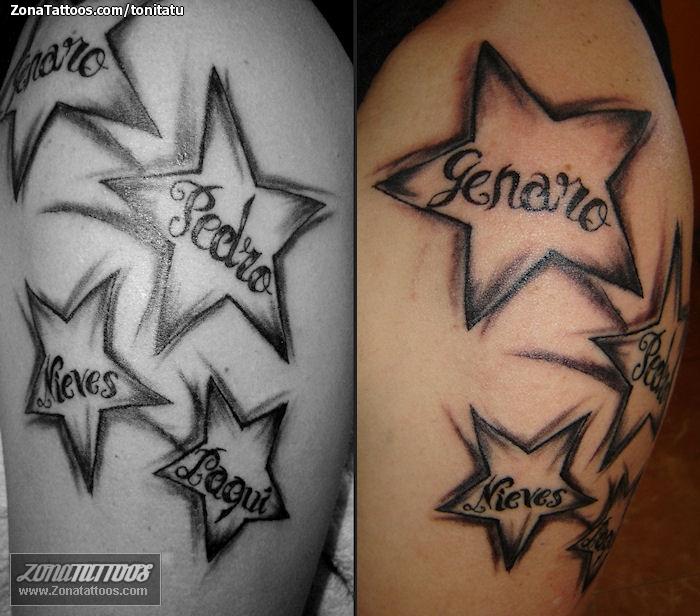 Tattoos nombres y estrellas - Imagui