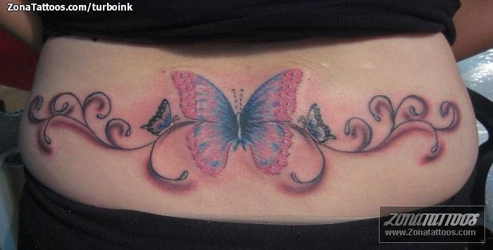 Tatuajes De Mariposas En La Cintura Alojamiento De Imagenes ...
