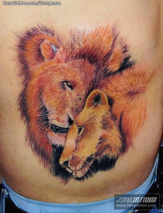 Tatuaje De Leones Animales
