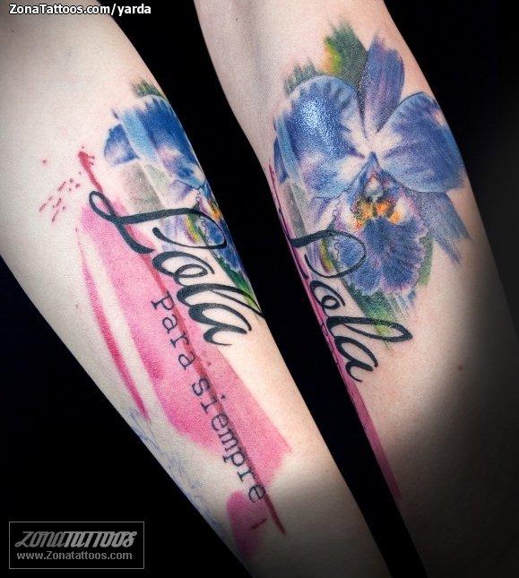 Tatuaje De Flores Orquídeas Nombres