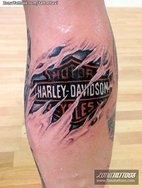 Tatuaje de Harley-Davidson, Logos, Grietas