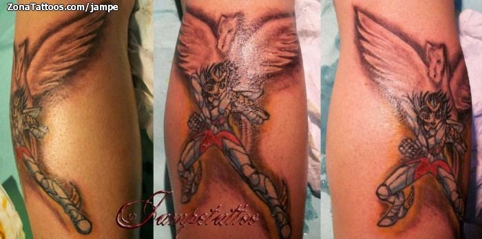 Tatuaje Los Caballeros Del Zodiaco
