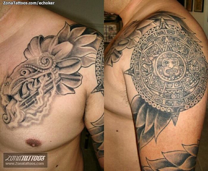 Tatuaje De Aztecas Calendarios