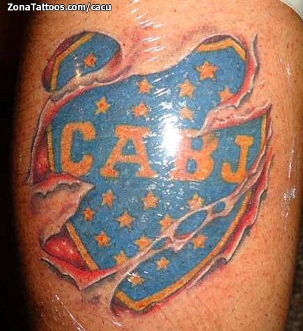 Tattoo Of Badges Boca Juniors Soccer Football