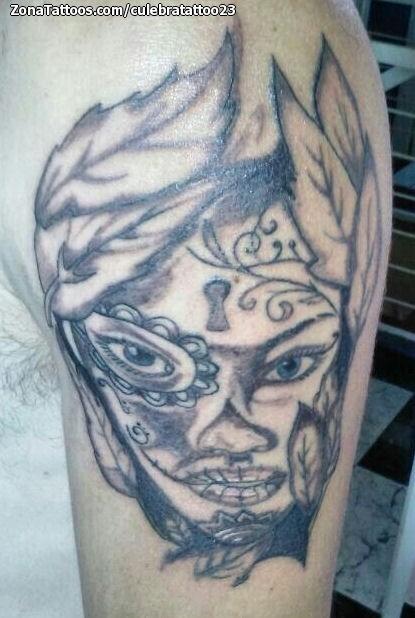 Tatuaje De Catrinas Brazo