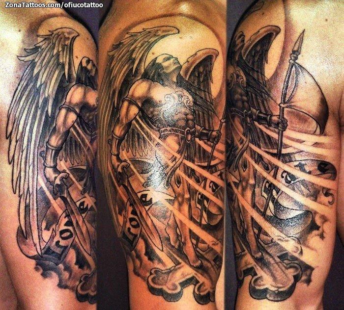 Tatuaje De Brazo ángeles Guerreros