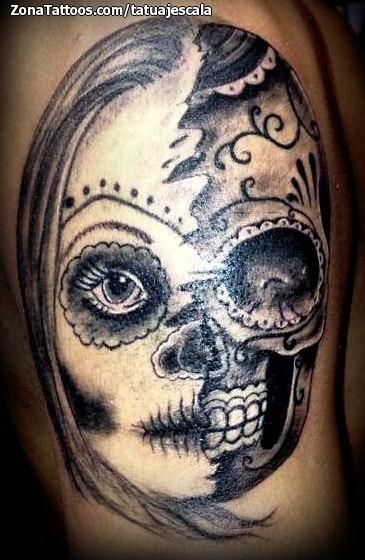 Foto tatuaje Catrinas, Calaveras