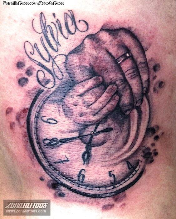 Tatuaje De Nombres Manos Relojes