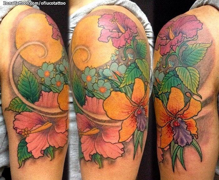 Foto tatuaje Orquídeas, Flores, Brazo