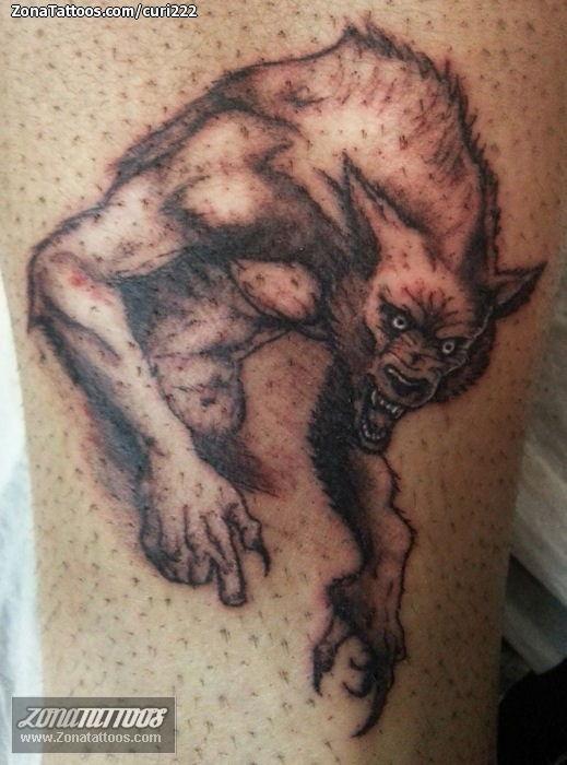 Tatuaje de curi222 - Hombres Lobo Fantasía