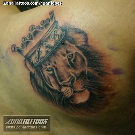 Tatuaje De León De Judá Leones Coronas