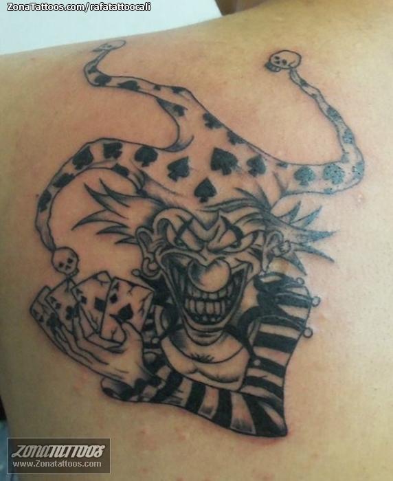 Payasos jokers tatuajes de y
