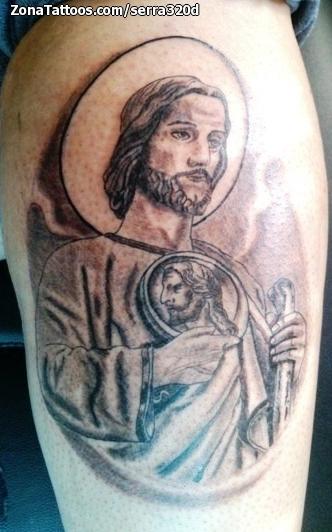 Tatuaje De Santos Religiosos