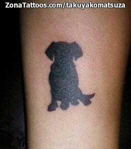 Tatuaje De Perros Animales Siluetas