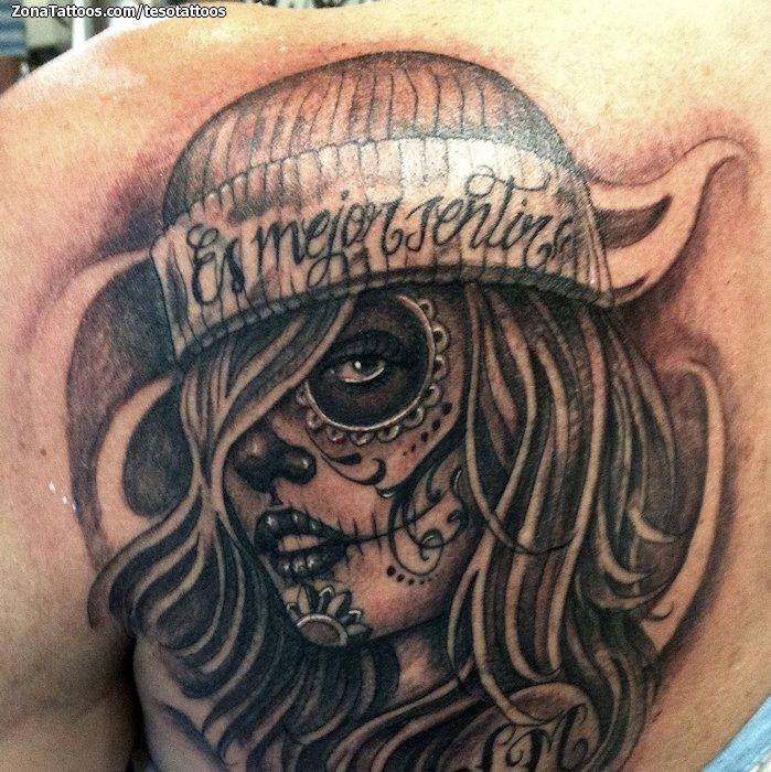Foto tatuaje Catrinas, Chicanos