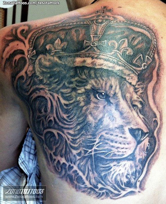 Tatuaje De Leones León De Judá Coronas