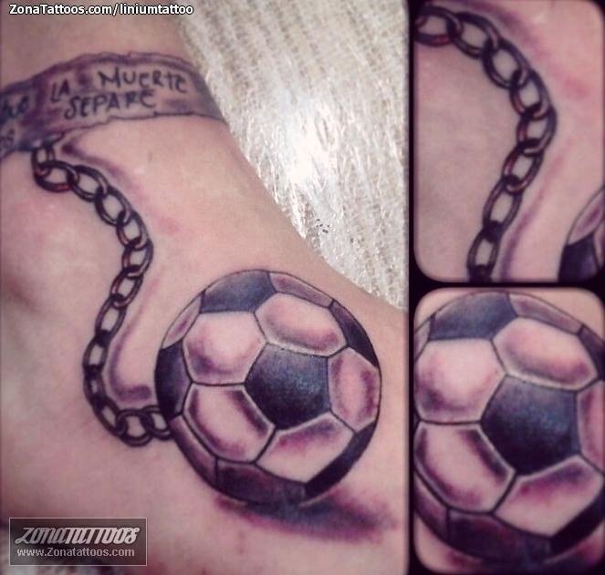 Tatuaje De Cadenas Fútbol Deportes