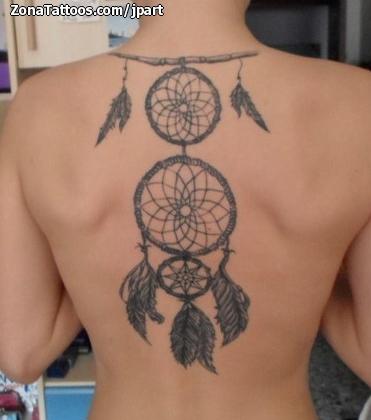 Foto de tatuaje Atrapasueños, Espalda