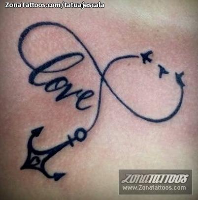 Tatuaje De Infinitos Love Anclas