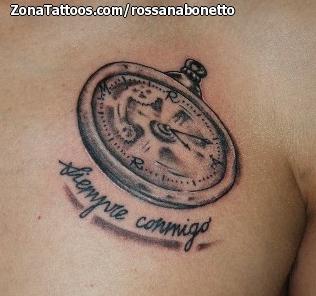 Tatuaje De Relojes Pecho Frases