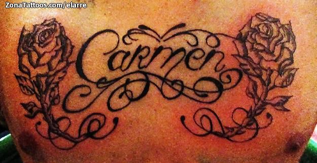 Tatuaje De Carmen Nombres Letras