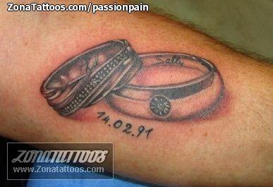 Tatuaje De Anillos Alianzas