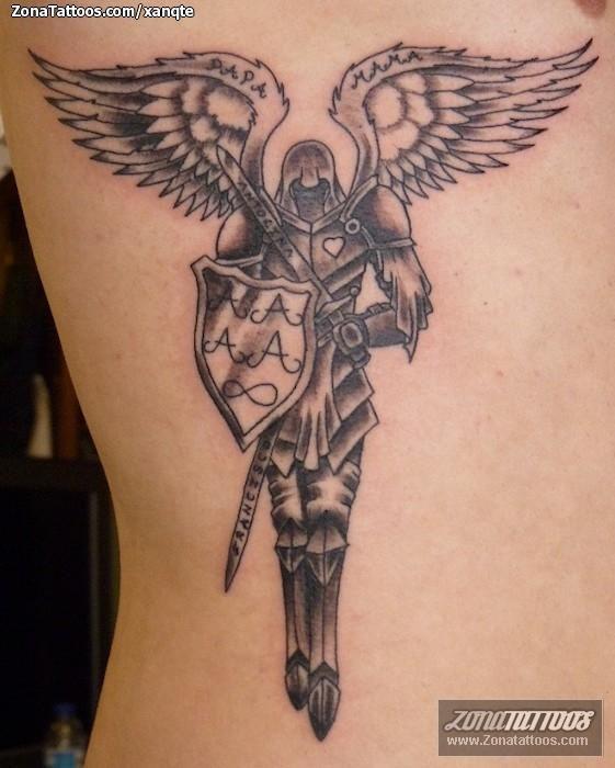 Tatuaje de ngeles Guerreros