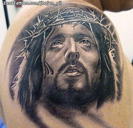 Tatuaje De Cristos Religiosos Hombro