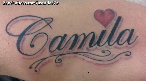 Tatuajes Y Diseños Del Nombre Camila Zonatattoos