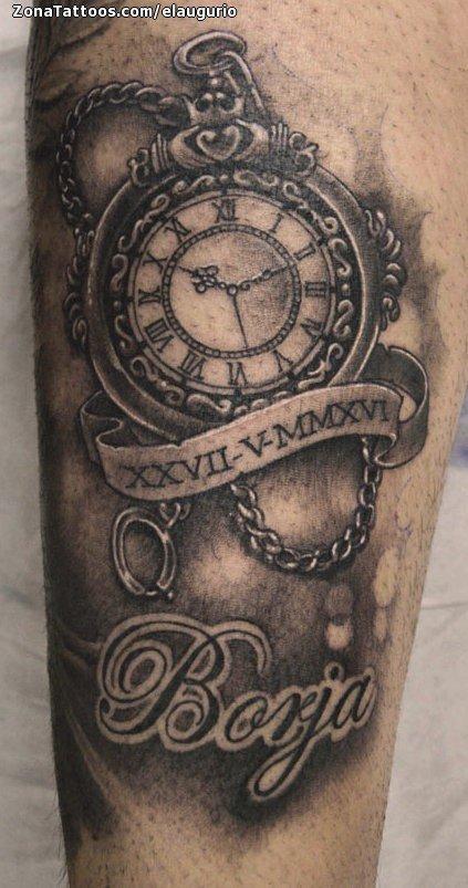 tatuaje de relojes borja nombres
