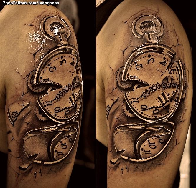 Tatuaje de relojes for Reloj para tatuar