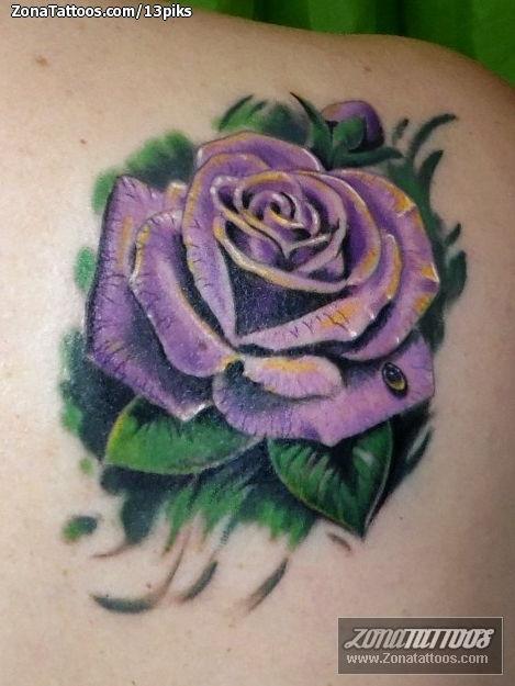 Tattoo Of Roses Flowers Shoulder Blade