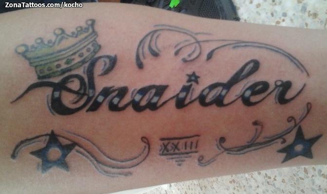 Tatuaje De Nombres Letras Coronas