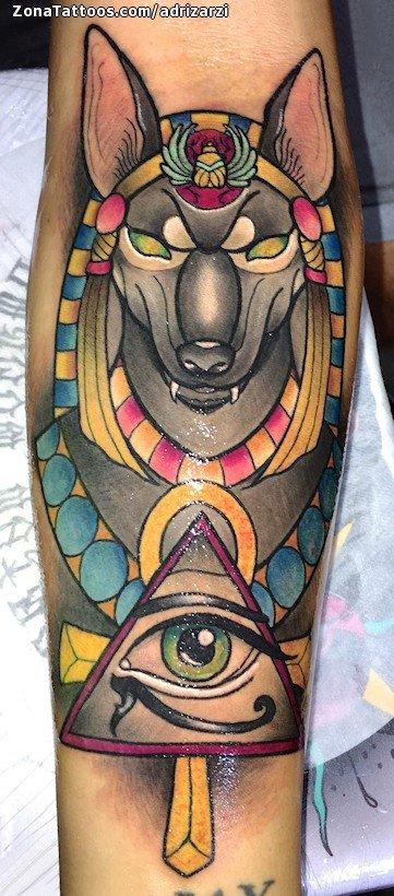 Tatuaje De Anubis Egipcios Ojo De Horus