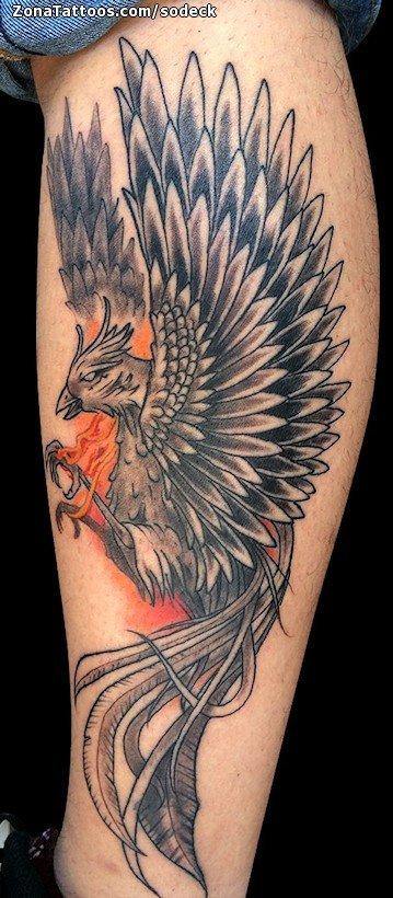 Tattoo Of Phoenix Leg Fantasy