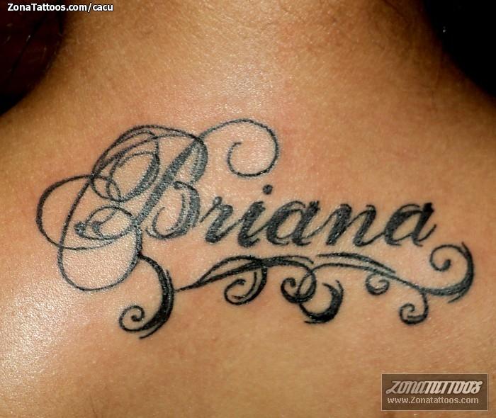 Tatuaje De Nombres Letras Briana