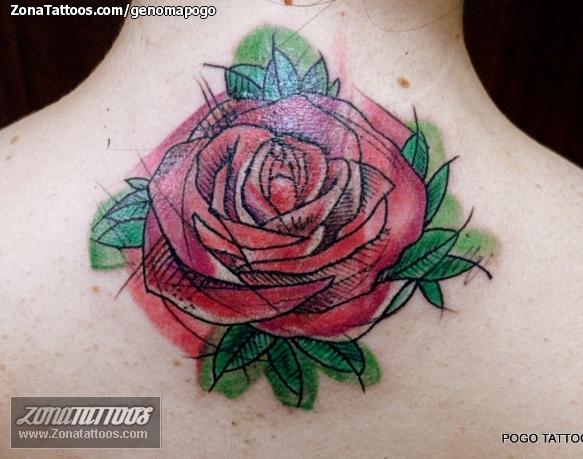Tatuaje De Rosas Flores