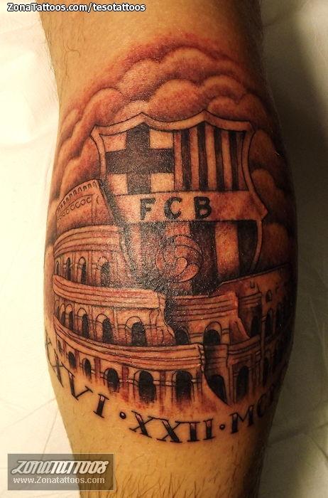 tattoo of badges fcb soccer football tattoo of badges fcb soccer football