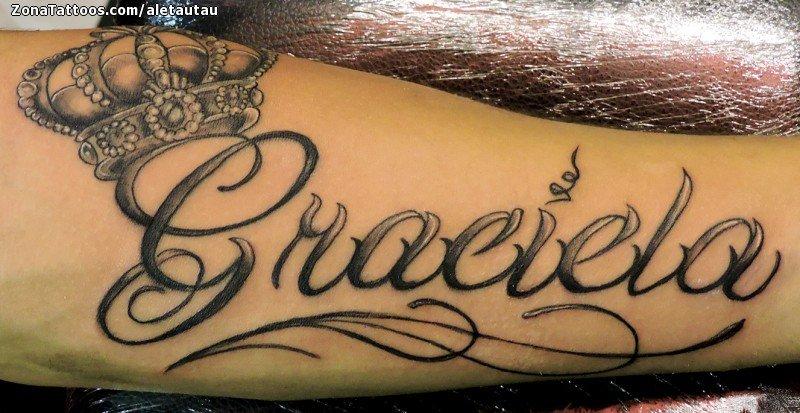Tatuaje De Graciela Coronas Nombres